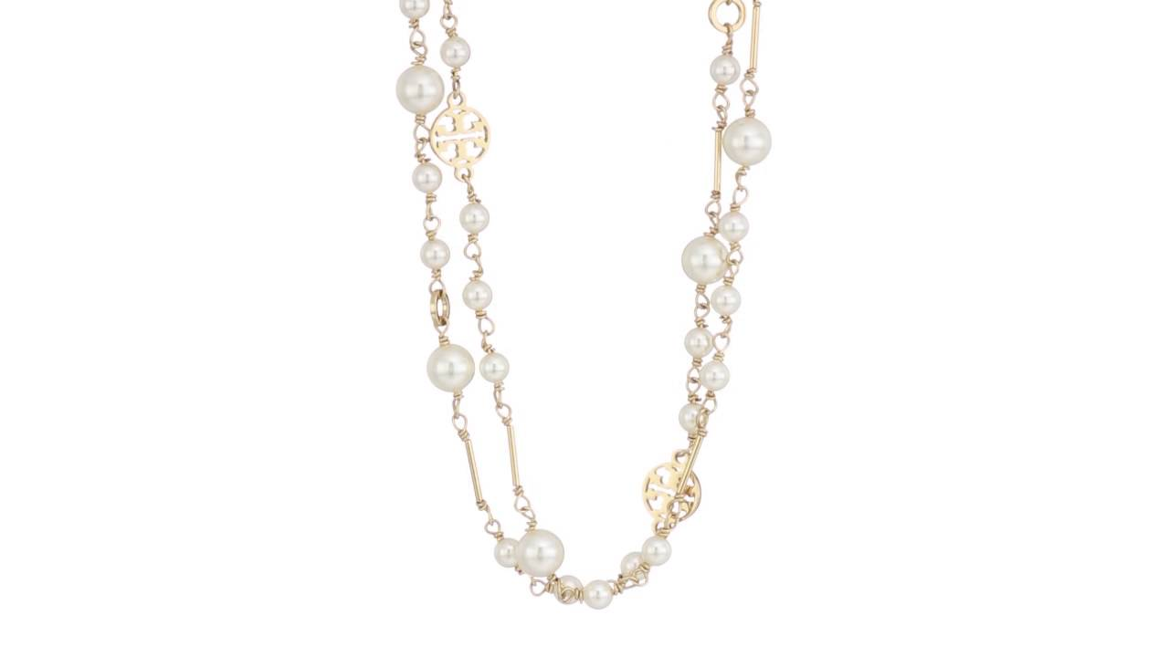 96301e15c6ba47 Tory Burch - Crystal Pearl Convertible Necklace SKU:8830659 - YouTube