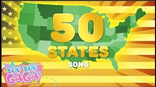 50 States Song | Learn the 50 States of America for Kids [by Boo Boo Gaga] #booboogaga