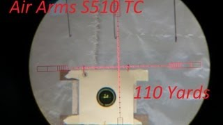 Air Arms S510 .22 FAC TC - Part 3 -  55 & 110 yards Scopecam
