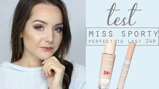 10H TEST PODKŁADU I KOREKTORA MISS SPORTY PERFECT TO LAST | Milena Makeup