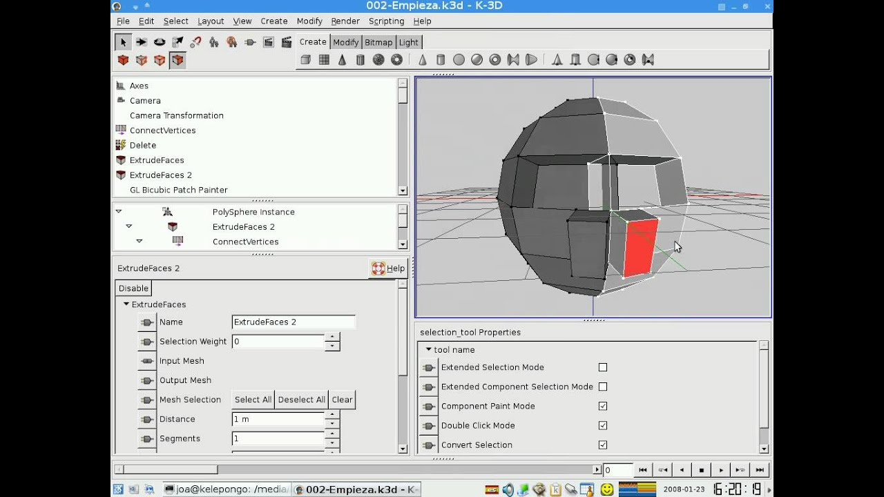 K 3d tutorial simple face and head 3d modeling part 1 for Kuchenplaner freeware 3d