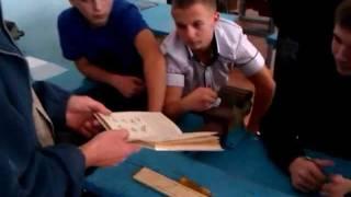На уроке трудового обучения в 9-А