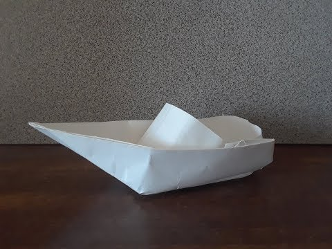 Origami Speed Boat - Easy And Fun To Make | *Floats In Water*
