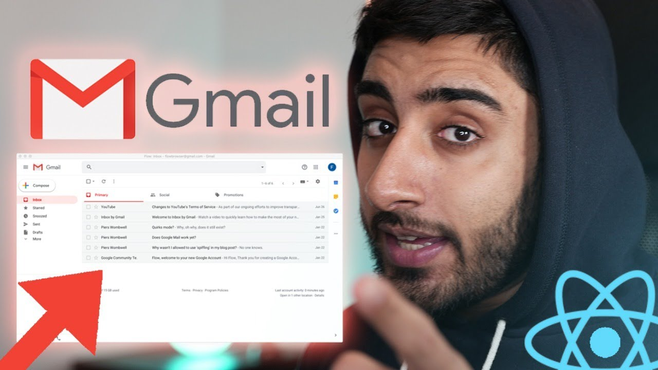 Build Gmail with REACT.JS! (with React-Router, REDUX & Firebase)