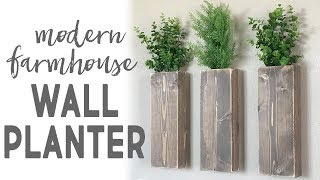 DIY Modern Farmhouse Wall Planter