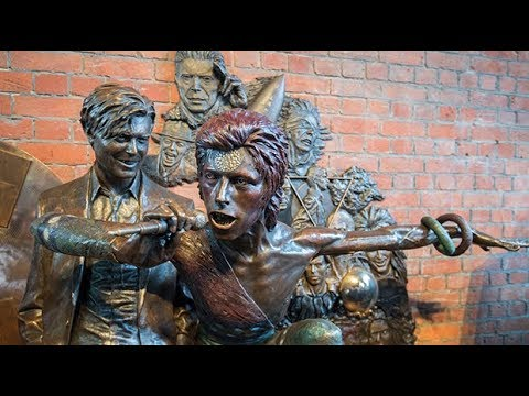 World's first David Bowie statue unveiled in Aylesbury