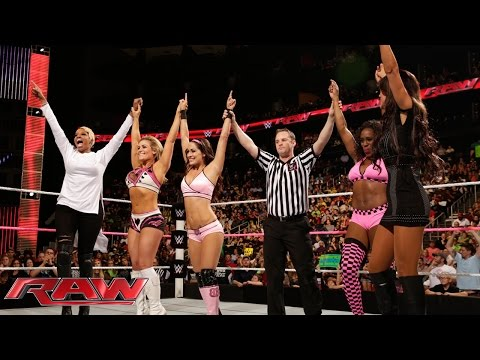 Brie Bella, Naomi & Natalya vs. Nikki Bella, Cameron & Summer Rae: Raw, Oct. 13, 2014