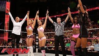 Brie Bella, Naomi & Natalya vs. Nikki Bella, Cameron & Summer Rae: Raw, Oct. 13, 2014
