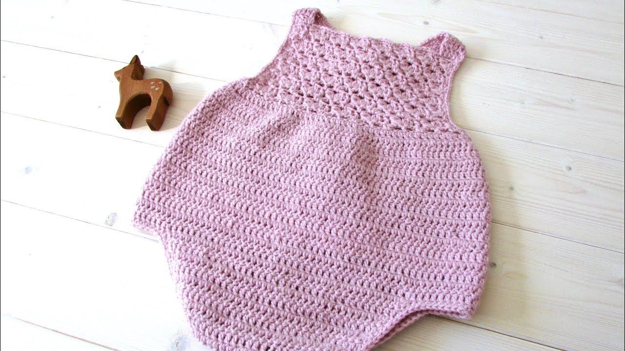 How To Crochet A Pretty Shell Stitch Baby Romper The Millie Romper