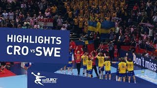 Highlights | Croatia vs Sweden | Men's EHF EURO 2018