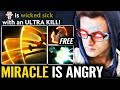 Miracle is Angry!! Good Epic Omnislash 9000 MMR Carry Crazy Pub Game While Liquid at Chongqing Dota
