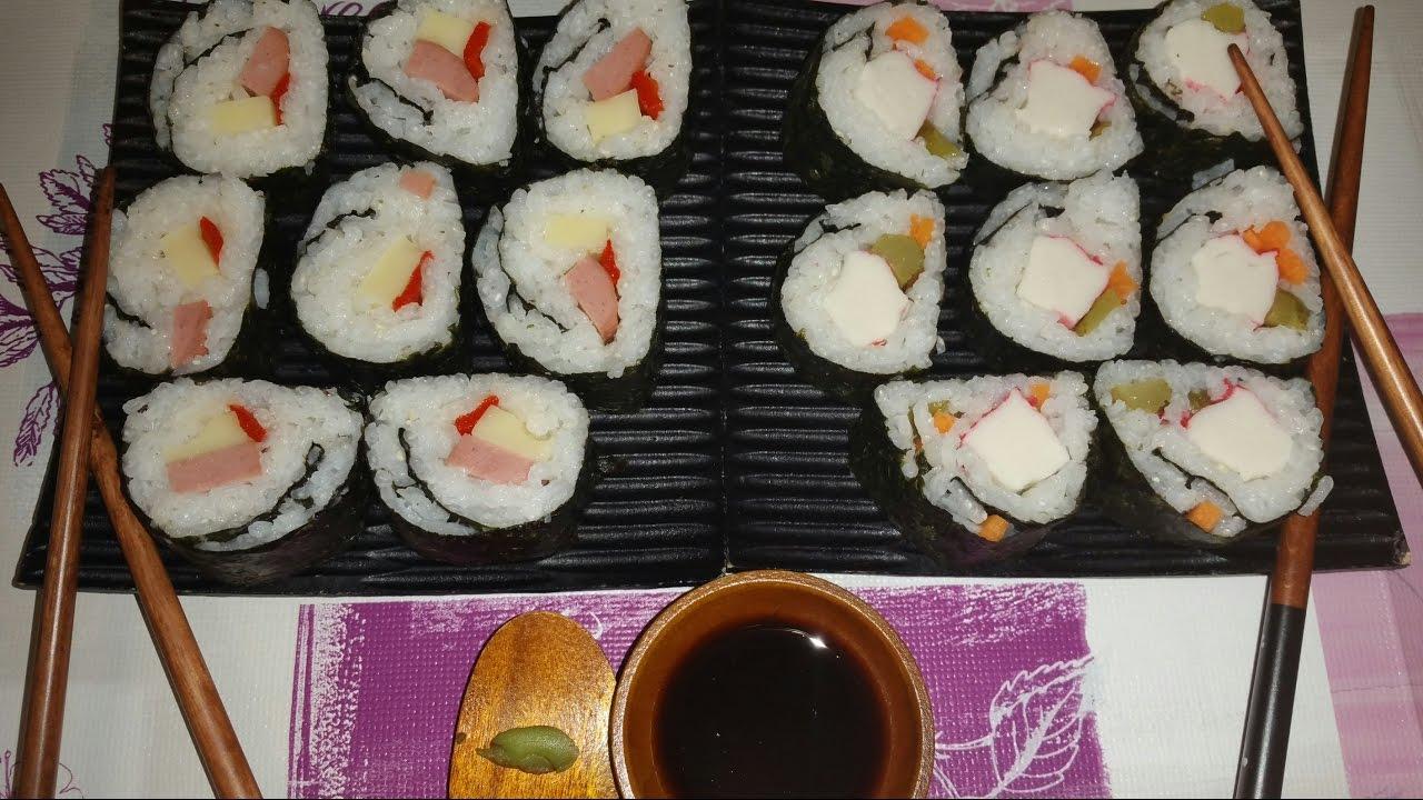 Sushi sin pescado crudo sushi rapido y facil receta - Cocinar sushi facil ...
