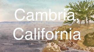 How to Paint A Seascape in Watercolour Watercolor Cambria California Ca Tutorial Ocean