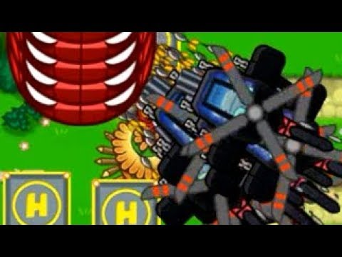Stacking Heli Pilots on Top of Each Other - Heli Ice Village Strategy (Bloons TD Battles)