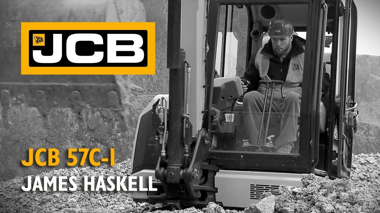 James Haskell tests the JCB 57C-1 Mini Excavator