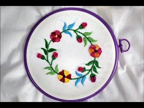 Hand Embroidery - Herringbone and Blanket (Circle Frame Design ...