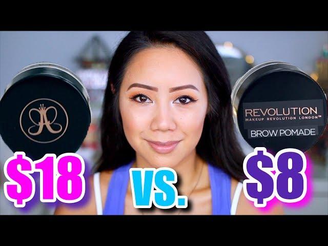 ABH Dipbrow VS. Makeup Revolution Brow Pomade | High End VS. Drugstore