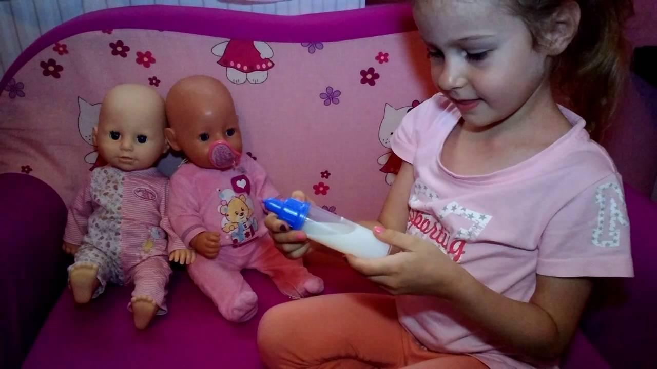 Кукла с бутылочкой Baby Annabell, Zapf Creation 36 см - YouTube