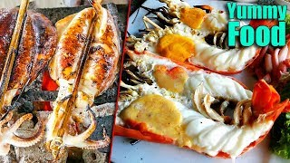 Popular Street Food, Asian Street Food, Fast Food Street in Asia #285