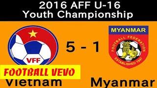 U16 Myanmar Vs U16 Việt Nam - Mưa Bàn Thắng Tràn Cảm Xúc