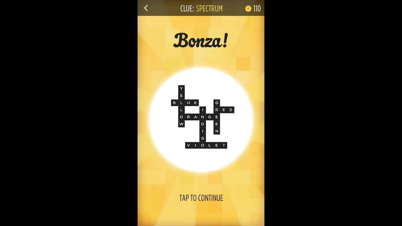 Bonza word puzzle spectrum puzzle pack 1 walkthrough youtube