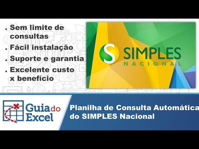 Planilha de consulta do SIMPLES Nacional Automática