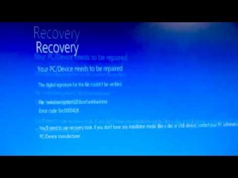 "How to fix ""Your PC/Device needs to be repaired"" error (0xc0000428)"