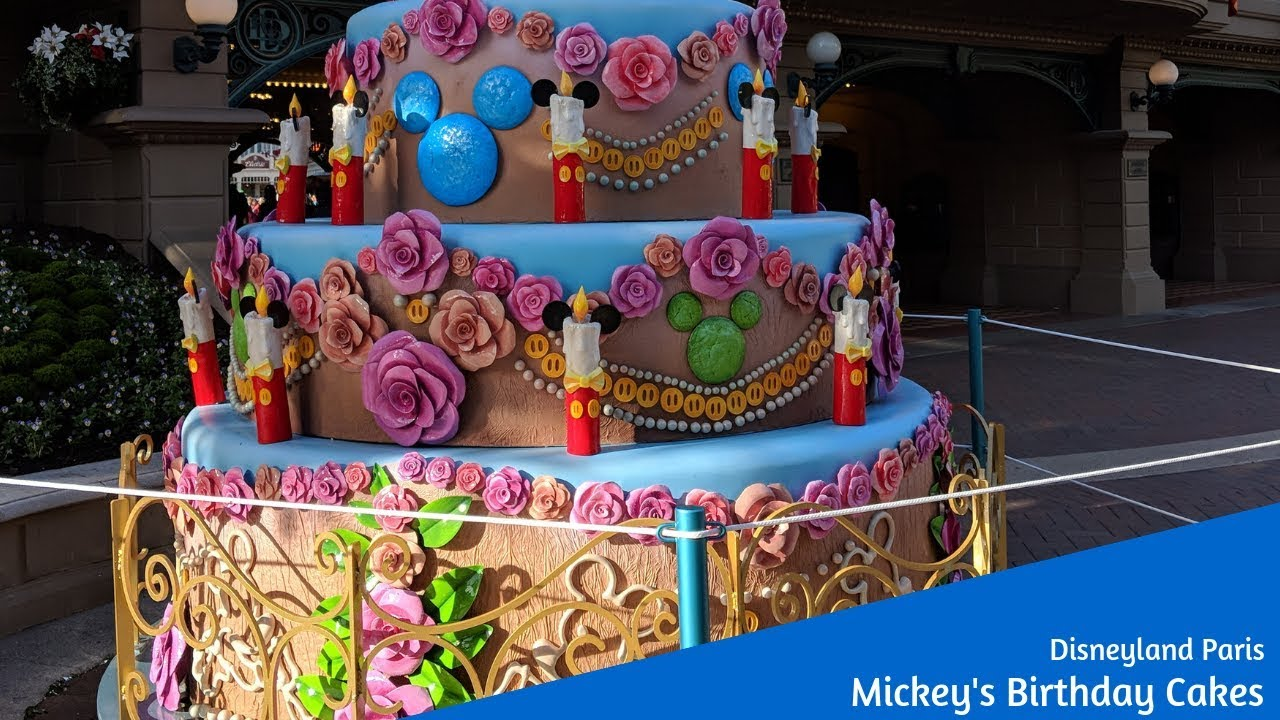 a5c687052c3 Mickey s Birthday Cakes at Disneyland Paris - YouTube