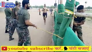 सेना भर्ती 13 जून को नागौर स्टेडियम पर नांवा व मकराना के युवाओं ने लगाई दौड़।