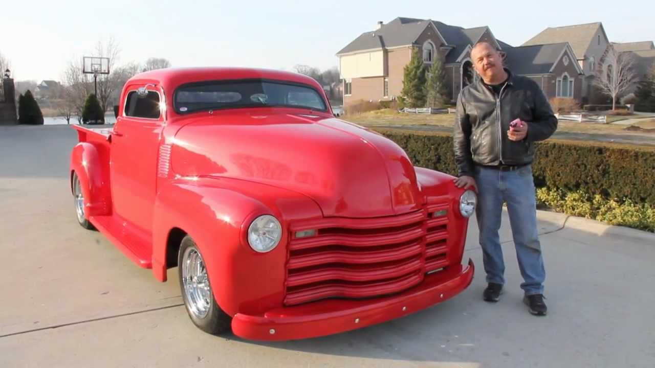 1951 Chevy Stepside Custom Pickup Truck Classic Muscle Car For Sale