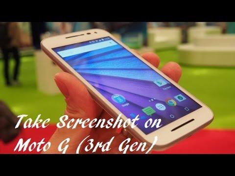 How to Take a Screenshot on Motorola Moto G (3rd ...