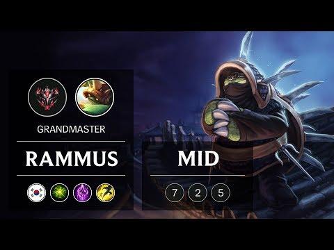 Rammus Mid vs Yasuo - KR Grandmaster Patch 9.3