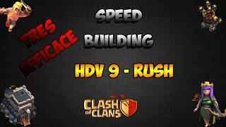Clash of Clans - Village Rush HDV 9 efficace (avec 4 mortiers).