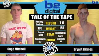 Hardrock MMA 98 Fight 5 Bryant Haynes vs Gage Mitchell 135 Ammy Knock Out