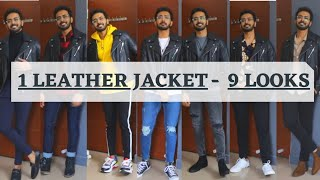 How to Style Black Leather Jacket for INDIAN MEN| Leather Jacket outfit ideas 2021| Winter outfits