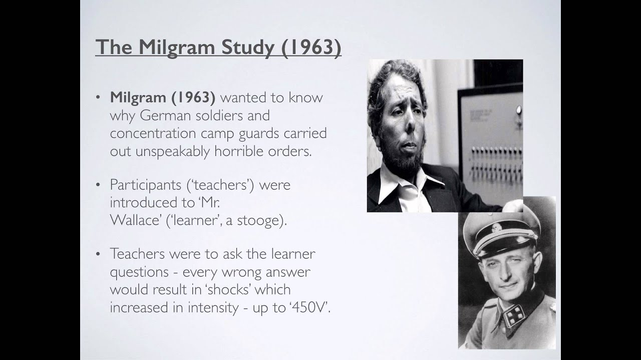 evaluation of milgrams obedience study Evaluation of milgram's research milgram's research was conducted as laboratory experiment which means there was tight control of extraneous variables and it is possible to establish cause and effect, ie situational pressures caused obedience.