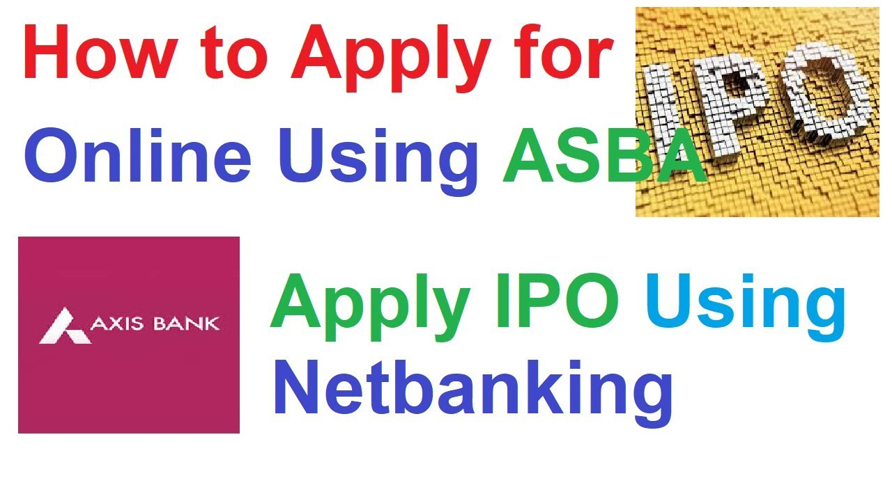 How to apply axis bank ipo