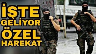 Operasyon sonrası ilçe merkezinden aslanlar gibi yürüyen POLİS ÖZEL HAREKAT