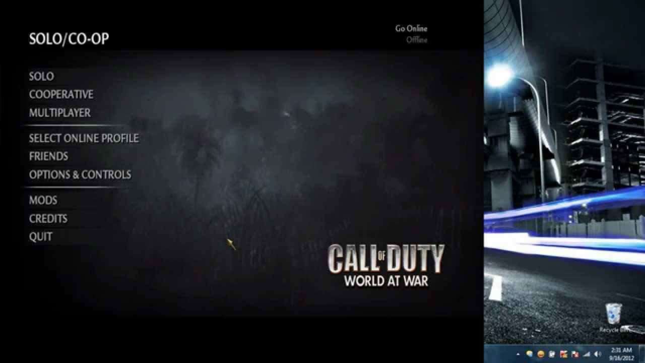How to get and install Call Of Duty World At War on your PC for FREE!!!