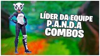 SHOWING THE * SKIN * TEAM LEADER P.A.N.D. A & COMBOS | FORTNITE