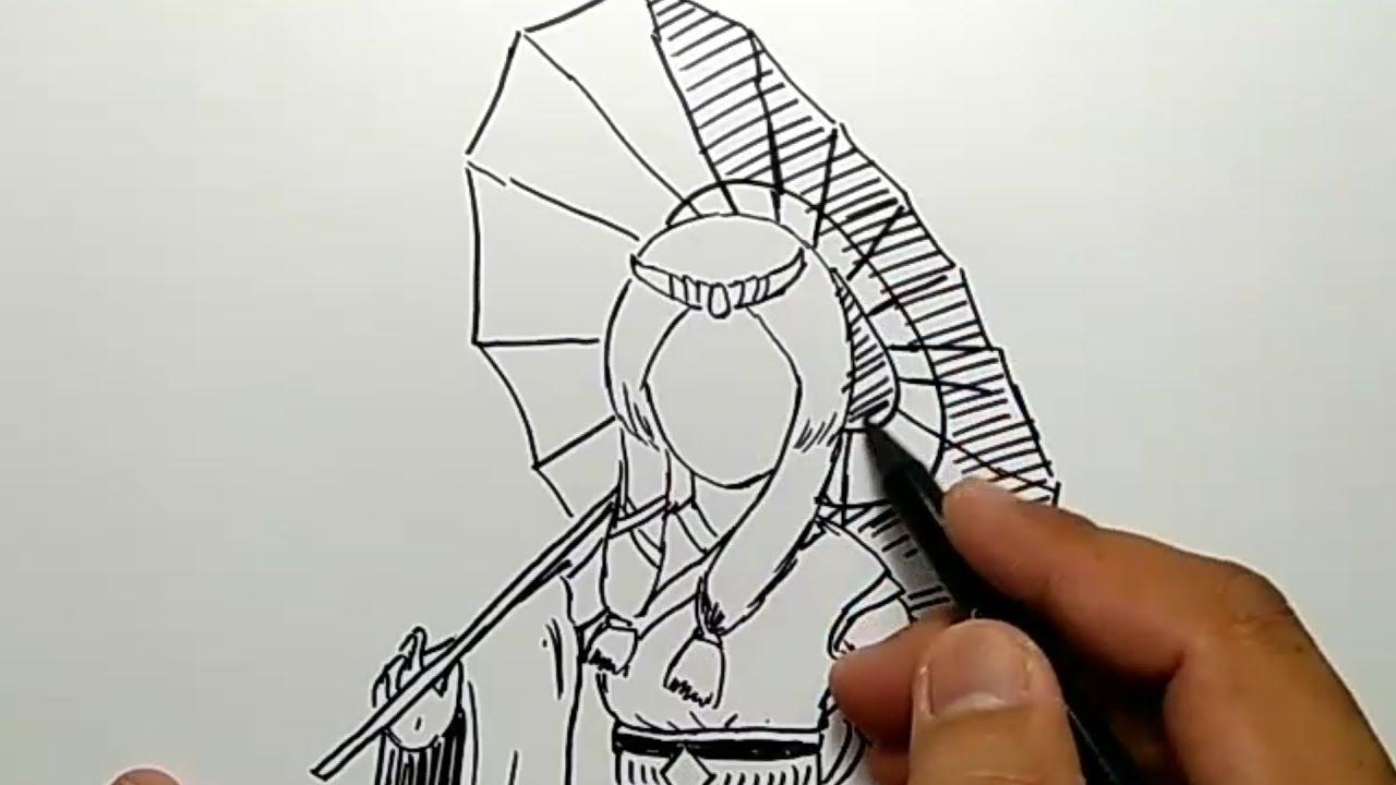 HEBAT cara menggambar KAGURA mobile legend how to draw kagura mobile legend