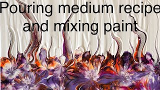 ACRYLIC PAINT POURING MEDIUM RECIPEESPECIALLY GREAT FOR BALLOON KISSING AND OTHER ART TECHNIQUES