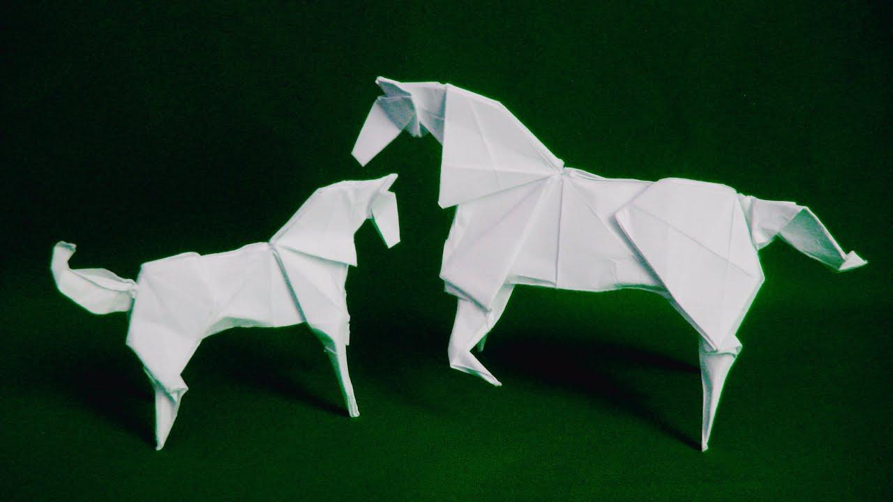 Horse arts and crafts - 3d Horse Origami Komatsu Hideo Origami Paper Craft
