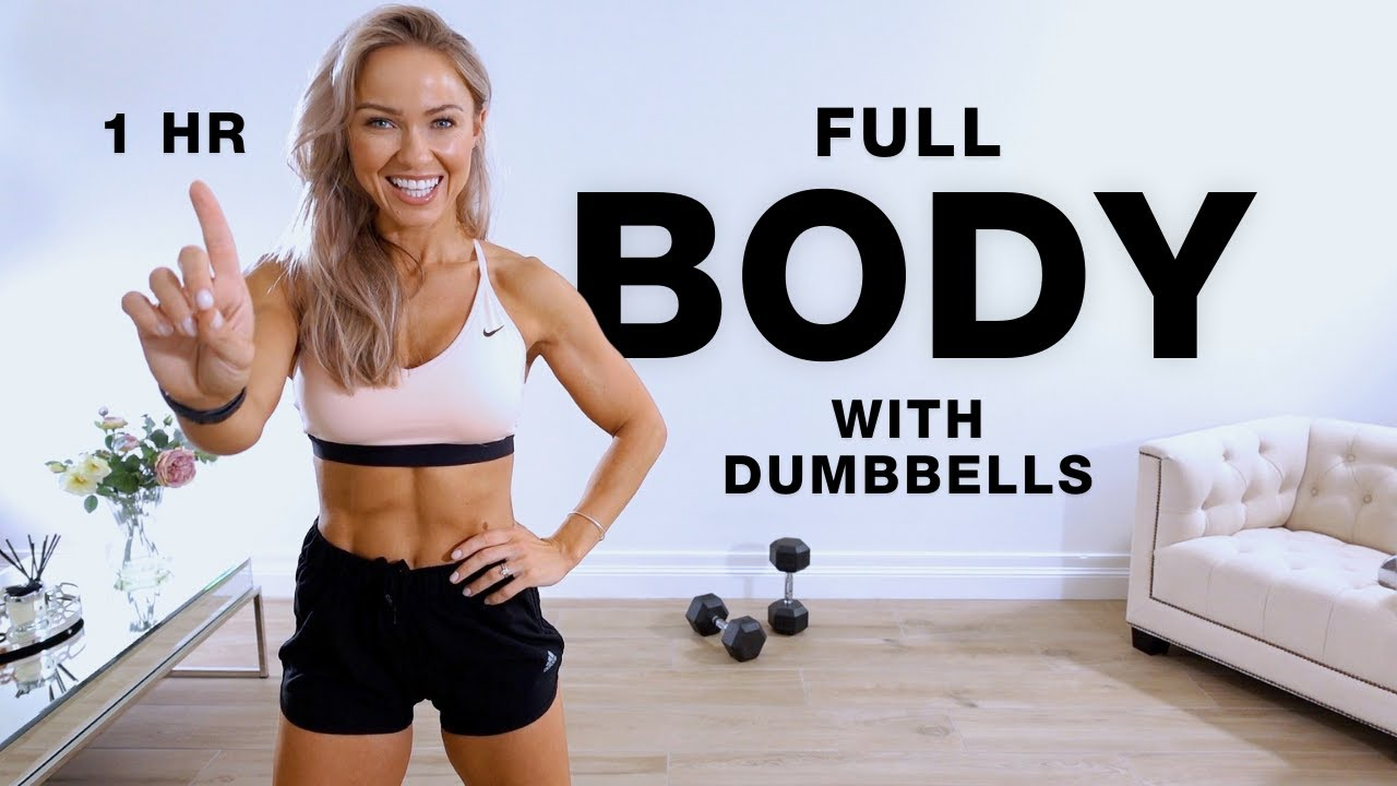 Download 1 Hour FULL BODY DUMBBELL WORKOUT at Home   Caroline Girvan