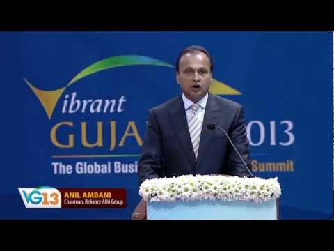 Anil Ambani's speech during the Inaugural Ceremony of Vibrant Gujarat Global Summit 2013