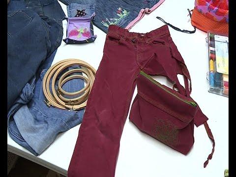 Gut Abgeschnitten Neue Tasche Aus Alter Jeans Teil 1 Sehenswert