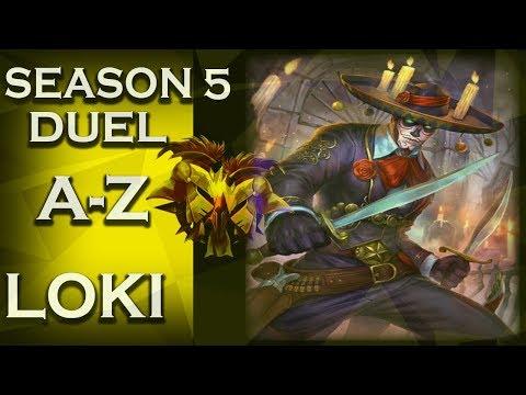 Smite: Season 5 Duel A-Z! | Loki | Learning! | #55
