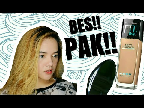Maybelline Fit me MATTE + PORELESS Foundation REVIEW | Philippines