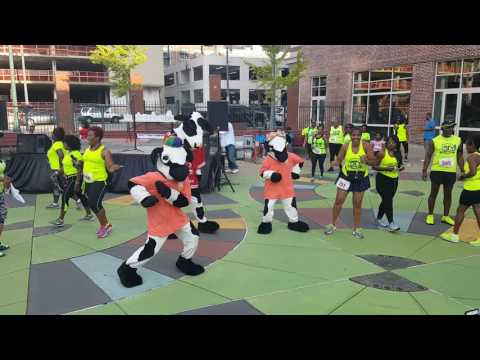 Chickfila cow does the whip, nay nay,