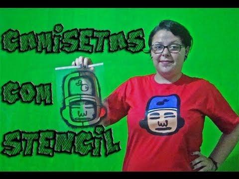 Saiba Aqui - Estampar Camisetas com Stencil
